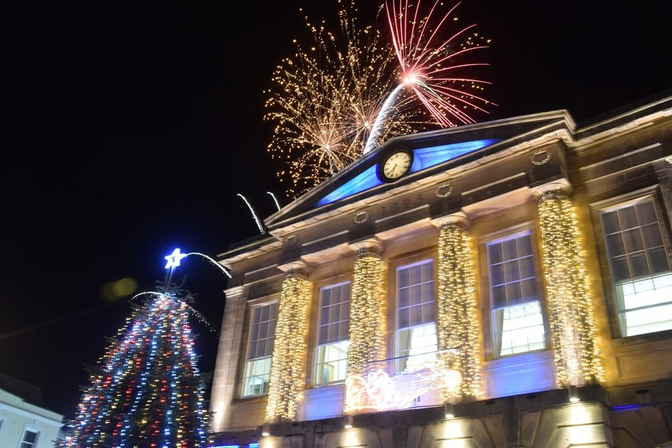 Christmas Lights Switch On Andover