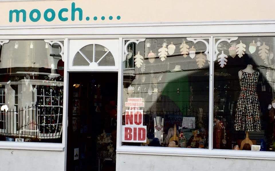 Andover No BID Mooch Andover High Street poster