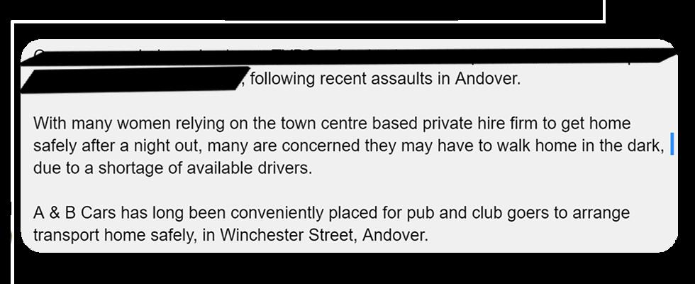 Andover Radio Facebook Quote Taxi Angel Cars